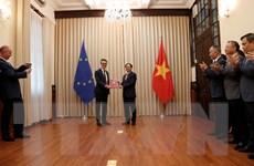 Trao các công hàm thông báo việc Việt Nam phê chuẩn EVFTA, EVIPA