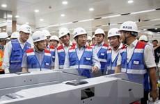 Hình ảnh Phó Thủ tướng khảo sát đường sắt đô thị Bến Thành-Suối Tiên