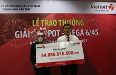 Người trúng giải Jackpot 49 tỷ đồng là một phụ nữ ở Vĩnh Long