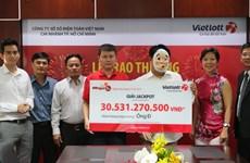 Người chơi ở Thành phố Hồ Chí Minh được trao giải Jackpot 30 tỷ đồng
