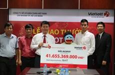 Người phụ nữ ở Lâm Đồng nhận giải Jackpot hơn 41,6 tỷ đồng