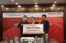 Hà Nội: Chủ nhân Jackpot triệu USD trích 200 triệu đồng làm từ thiện