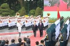 Những hình ảnh về Lễ đón Tổng Bí thư-Chủ tịch Trung Quốc Tập Cận Bình