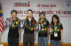 Trường Sơn đoạt ngôi vô địch Giải cờ vua quốc tế HDBank 2014
