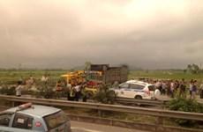 Xe cảnh sát giao thông gặp nạn làm 3 chiến sỹ tử vong