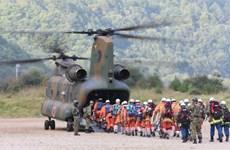 Nhật Bản hoãn tìm kiếm nạn nhân núi lửa do mưa bão
