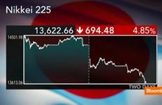 """""""Sắc đỏ"""" bao trùm thị trường chứng khoán châu Á"""