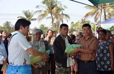 Hội người Campuchia gốc Việt hỗ trợ bà con nghèo đón Tết