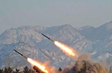 Triều Tiên bắn 5 tên lửa tầm ngắn xuống vùng biển Nhật Bản