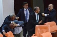5 nghị sỹ bị thương trong vụ ẩu đả dữ dội tại quốc hội Thổ Nhĩ Kỳ