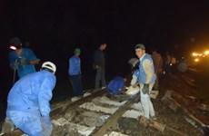Hoàn thành khắc phục đoạn đường sắt bị hỏng tại Quảng Bình