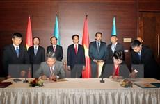 Việt Nam và Kazakhstan ký chương trình hợp tác tư pháp