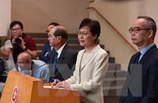 Chính quyền Hong Kong lên án hành vi vi phạm pháp luật trong biểu tình