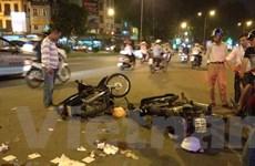 Hải Phòng: Hai xe máy chạy tốc độ cao đối đầu, bốn người thương vong