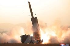KCNA: Triều Tiên thử thành công hệ thống phóng rocket cỡ siêu lớn
