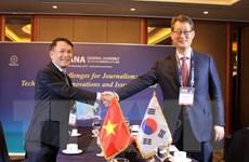 Đẩy mạnh hợp tác giữa TTXVN và hãng thông tấn Yonhap