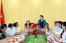 Chủ tịch Quốc hội Nguyễn Thị Kim Ngân thăm làm việc tại tỉnh An Giang