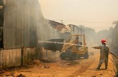 Cháy xưởng gỗ ở Bình Dương gây thiệt hại nặng nề