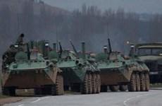 Nga bắt đầu tập trung xe bọc thép gần bán đảo Crimea