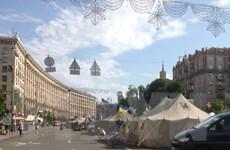 """[Photo] Ukraine: Khresatik - dấu ấn những ngày nóng bỏng """"thời chiến"""""""