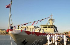 Indonesia hạ thủy tàu cao tốc mang tên lửa tự chế tạo
