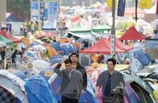 Cảnh sát Hong Kong sắp giải tán điểm biểu tình cuối cùng