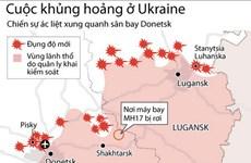 [Infographics] Chiến sự ác liệt quanh sân bay Donetsk ở đông Ukraine