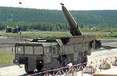 Nga phóng tổ hợp tên lửa Iskander-M trong huấn luyện tác chiến