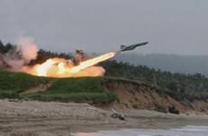 Triều Tiên phóng thử 3 quả tên lửa tầm ngắn ra biển Nhật Bản