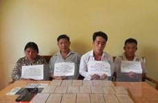 Sơn La bắt giữ 4 đối tượng vận chuyển trái phép 20 bánh heroin