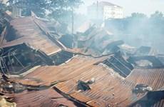 Quảng Ngãi: Hỏa hoạn thiêu rụi xưởng gỗ, thiệt hại 700 triệu đồng