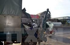 Xe tải đâm vào thành hầm đường bộ Hải Vân, phụ xe chết tại chỗ