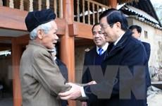 Chủ tịch nước khảo sát xây nông thôn mới tại Tuyên Quang
