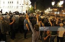Đụng độ nghiêm trọng ở Macedonia khiến 15 cảnh sát bị thương