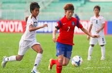 Bảng B Asian Cup nữ: Myanmar và Thái Lan thua tan tác
