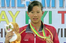Kình ngư Ánh Viên giành Huy chương Vàng 200m hỗn hợp ở Olympic trẻ