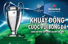 Cúp Champions League sẽ tới bốn thành phố tại Việt Nam