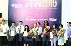 [Photo] Những hình ảnh tại lễ trao giải báo chí TTXVN năm 2015