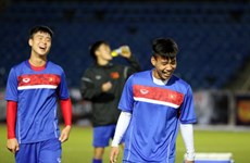 Tuyển Việt Nam phấn chấn trước trận gặp Afghanistan ở Asian Cup