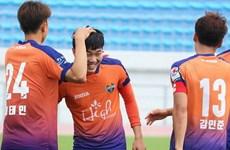 Xuân Trường thi đấu 45 phút, Gangwon đội hạng dưới loại