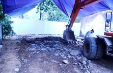 Dừng đào chất thải tại Nicotex Thanh Thái do thiếu kinh phí