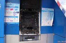 Hải Phòng: Một số cây rút tiền ATM bị tẩm xăng đốt cháy