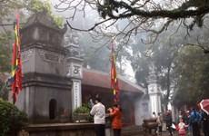 Lễ thượng cờ đầu tiên trên đỉnh Nghĩa Lĩnh ngày Giỗ Tổ