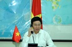 Bộ trưởng Ngoại giao điện đàm với người đồng cấp của 3 nước