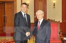 Tổng Bí thư Nguyễn Phú Trọng tiếp Thủ tướng Cộng hòa Italy
