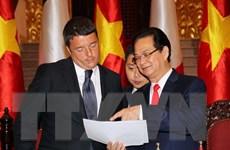Việt Nam mong muốn phát triển quan hệ với Italy đi vào chiều sâu