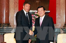 Chủ tịch nước Trương Tấn Sang tiếp Thủ tướng Matteo Renzi