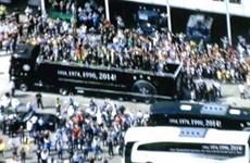 Lễ chào đón hoành tráng đội tuyển Đức vừa trở về từ Brazil