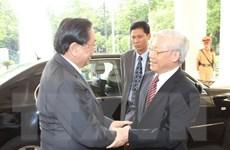 Tổng Bí thư, Chủ tịch nước và Đoàn cấp cao Lào thăm Việt Nam