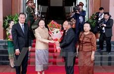 Chủ tịch Quốc hội Campuchia thăm hữu nghị chính thức Lào